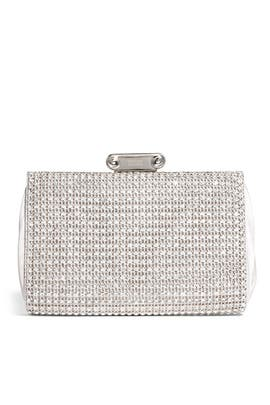 Cybil Silver Clutch by Badgley Mischka Handbags