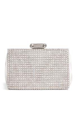 Badgley Mischka Handbags - Cybil Silver Clutch
