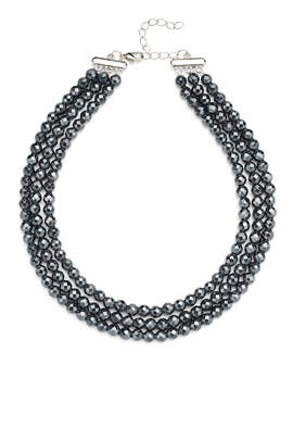 Silver Metallic Collar by Elise M.