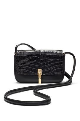 Black Embossed Cynnie Crossbody by Elizabeth and James Accessories