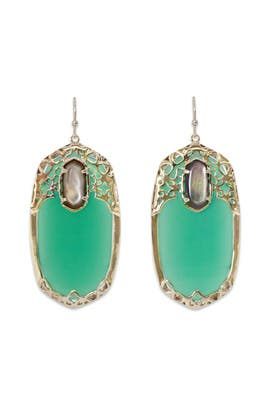 Deva Emerald Earrings by Kendra Scott