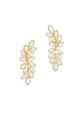 Shimmer Gold Leaf Earrings by Kenneth Jay Lane