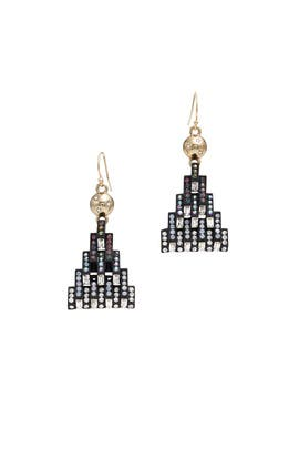 Matte Black Aurora Earrings  by Lulu Frost