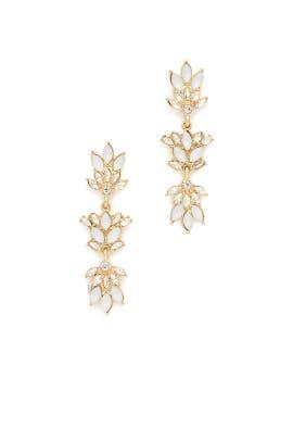 Crystal Gold Earrings by Loren Olivia