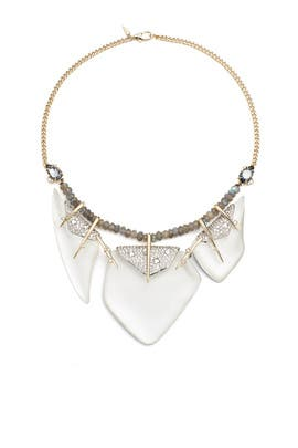 Silver Graphite Necklace by Alexis Bittar