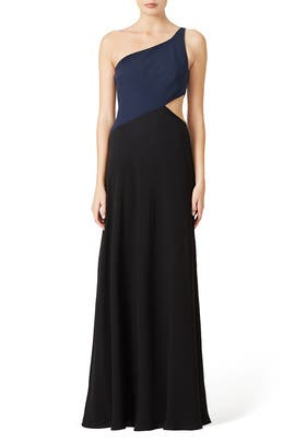 Colorblock Cut-Out Gown by Jill Jill Stuart