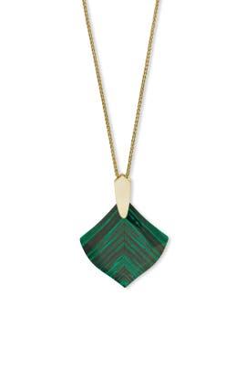 Green Aislinn Necklace by Kendra Scott