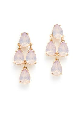 Blush Tiered Drop Earrings by Slate & Willow Accessories