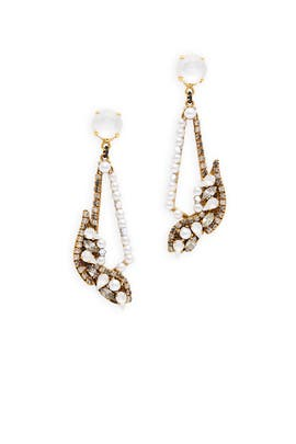 Pearl Trickle Earrings by Erickson Beamon