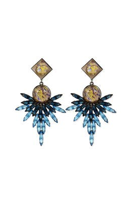 Odessa Feather Earrings by Dannijo
