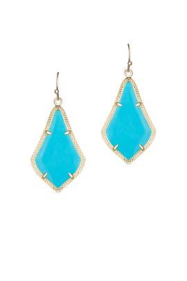 Turquoise Alexandra Earrings by Kendra Scott