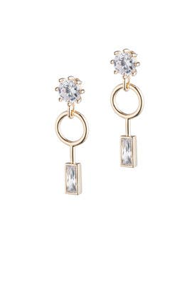 Baguette Estate Earrings by Eddie Borgo