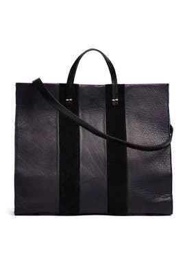 Navy Simple Tote by Clare V.