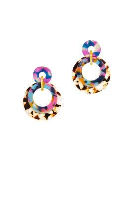 Jungle Banded Hoop Earrings by Lele Sadoughi
