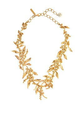 Gold Vine Necklace by Oscar de la Renta