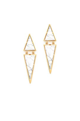 Gold Marble Drop Earrings by LUV AJ