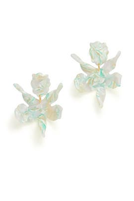 Mint Paper Lily Earrings by Lele Sadoughi