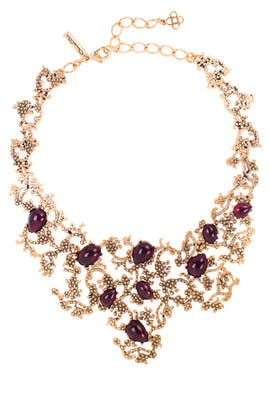 Bordeaux Filigree Necklace by Oscar de la Renta