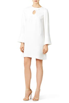 Ivory Cady Mini Dress by DEREK LAM