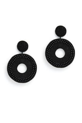Beaded Circle Earrings by Kenneth Jay Lane