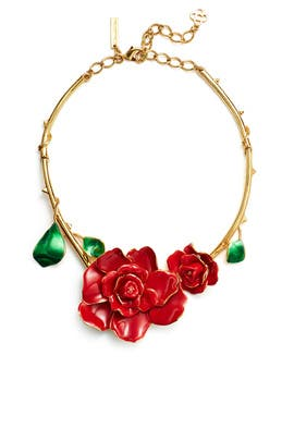 Rosette Gold Necklace by Oscar de la Renta