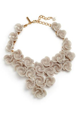 Almond Rosette Necklace by Oscar de la Renta