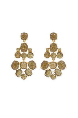 Gold Glitter Chandelier Earrings by kate spade new york accessories