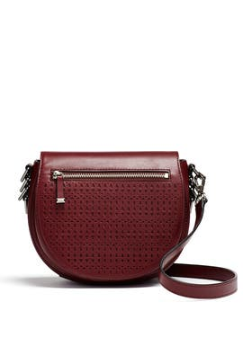 Red Astor Saddle Bag by Rebecca Minkoff Handbags