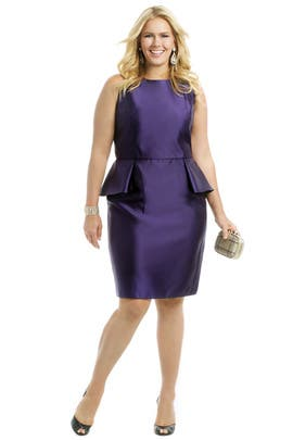 Carmen Marc Valvo - Royal Peplum Dress