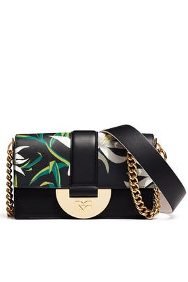 Black Bonne Journee Halfmoon Bag by Diane von Furstenberg Handbags