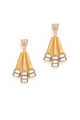 Hammered Geometric Earrings by Gerard Yosca