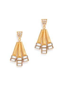 Hammered Geometric Earrings by Gerard Yosca