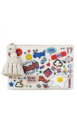 Chalk Circus Georgiana Clutch by Anya Hindmarch