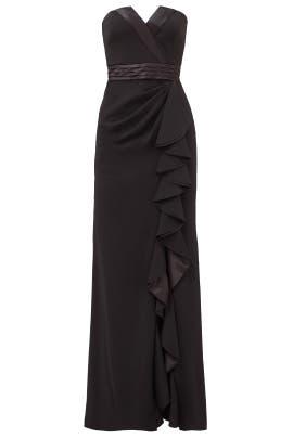 Tuxedo Ruffle Gown by Badgley Mischka