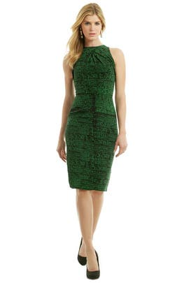 Juan Carlos Obando - Emerald Chip Print Dress