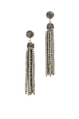 Gunmetal Tassel Earrings by Turkish Delight