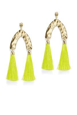 Double Tassel Earrings by Ettika