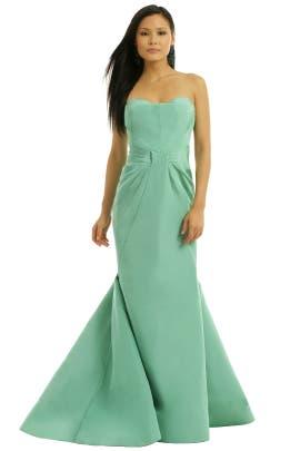 ZAC Zac Posen - Celadon Silk Gown