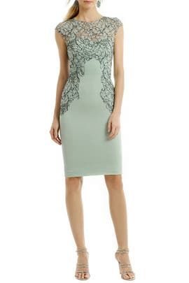 Lela Rose - Floral Frame Sheath