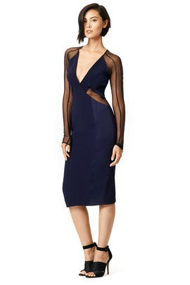 Illusion Cutout Dress by pamella roland