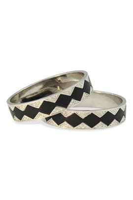 Silver Sunburst Bangle Set by House of Harlow 1960