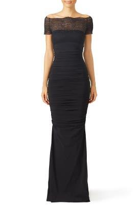 Black Nasira Gown by La Petite Robe di Chiara Boni