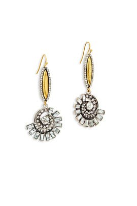 Slate & Willow Accessories - Amber Whirl Earrings