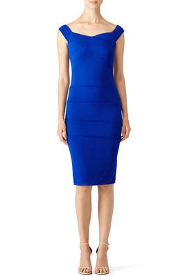Nicole Miller - Cobalt Curve Dress