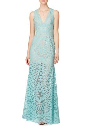 Aqua Chakra Gown by BCBGMAXAZRIA