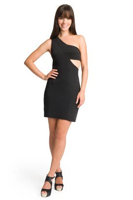 Black Halo - Cut Out One Shoulder Dress