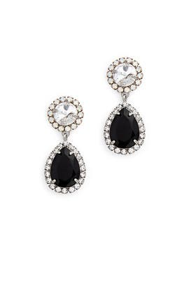 Black Monaco Earrings by Dannijo