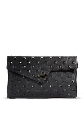 Milck Stud Clutch by ela Handbags