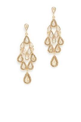 Gold Teardrop Earrings by Slate & Willow Accessories