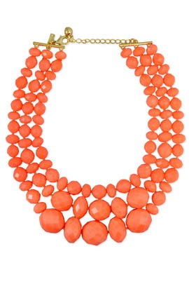 Coral Swirl Triple Row Necklace by kate spade new york accessories